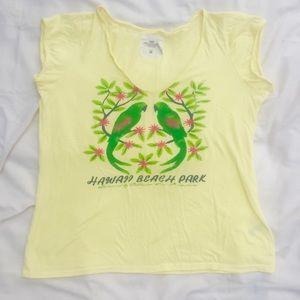 H&M  L.O.G.G. Yellow Parrot T-Shirt XL